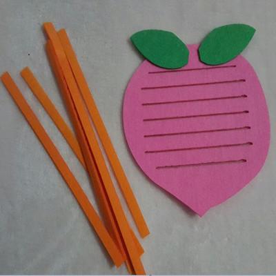 幼儿园手工制作玩教具 幼儿园区域游戏活动投放材料编织玩具