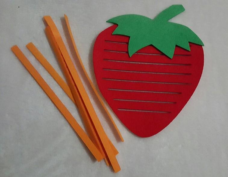幼儿园区角玩具 幼儿园区域操作材料编织水果