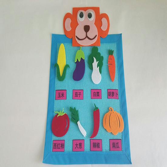 幼儿园手工制作区角区域游戏活动投放材料认识蔬菜玩教具