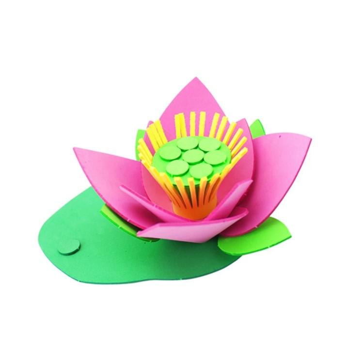 母亲节eva荷花手工制作创意diy材料包幼儿园儿童益智玩具送给妈妈礼物