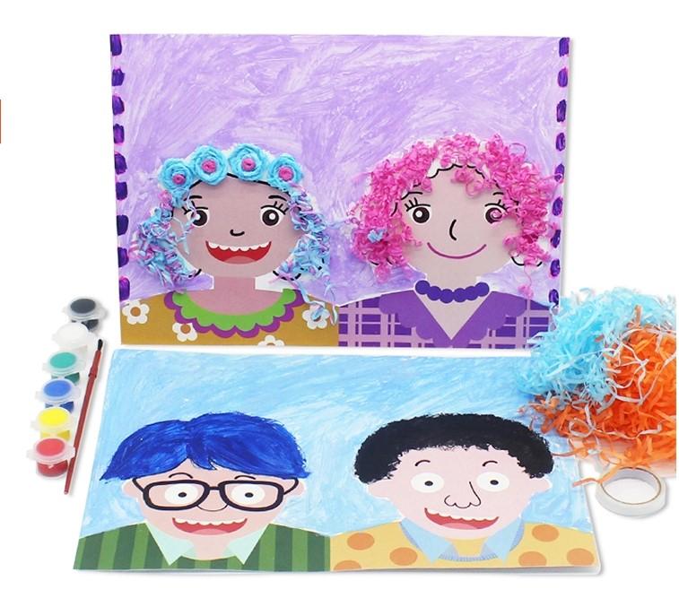 给爸爸妈妈设计发型 儿童礼物手工diy材料幼儿园父亲节母亲节活动手工图片