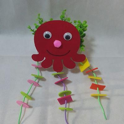有趣的章鱼图形 幼儿园自制玩教具手工制作玩具