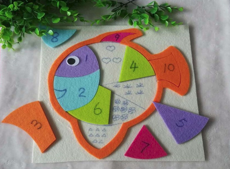 幼儿园数学游戏活动玩教具 幼儿园区角自制玩教具桌面操作活动材料