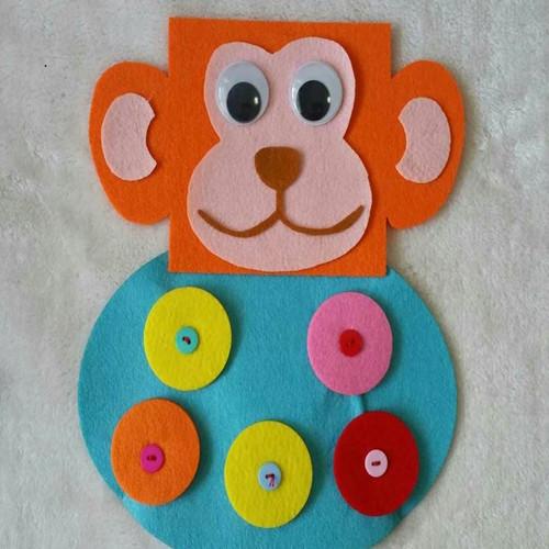 幼儿园手工制作纽扣玩教具 幼儿园区域活动投放材料