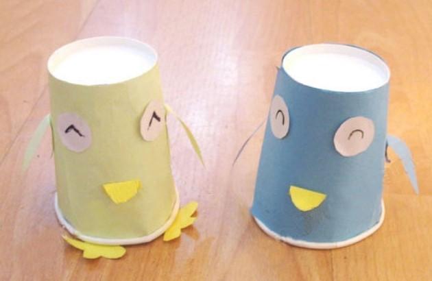 幼儿园手工制作自制玩教具纸杯纸筒纸盒手工 - 思维猴