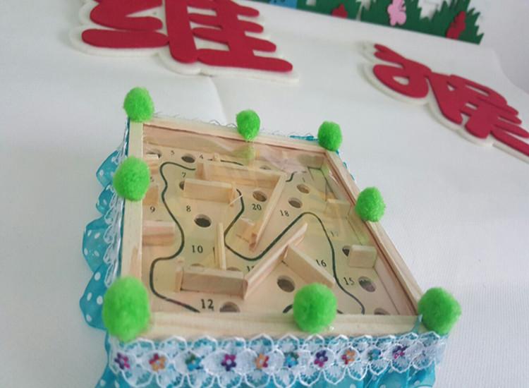 幼儿园手工制作自制玩教具迷宫 幼儿园区域活动手掌玩