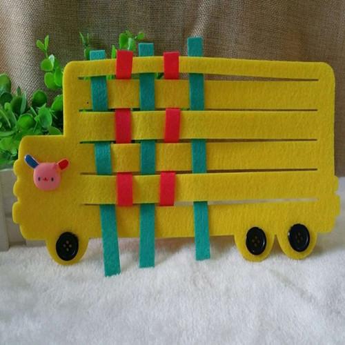 幼儿园手工制作编织类玩教具 区域区角玩具编织卡车