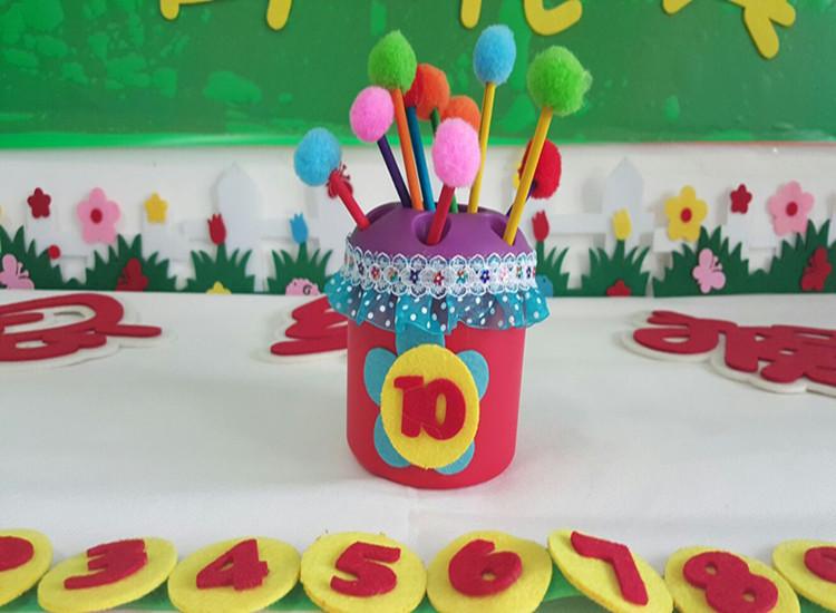 幼儿园区域活动动手操作插花玩具 幼儿园手工制作区域